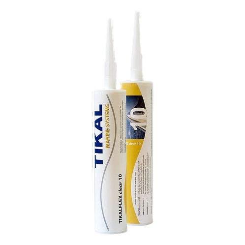 Tikalflex Clear 10 MS-Polymer Klebstoff und Dichtstoff | Transparent | 290ml | Haftet auf Polyester, Epoxid, Metall, Kunststoff, Beton, Stein