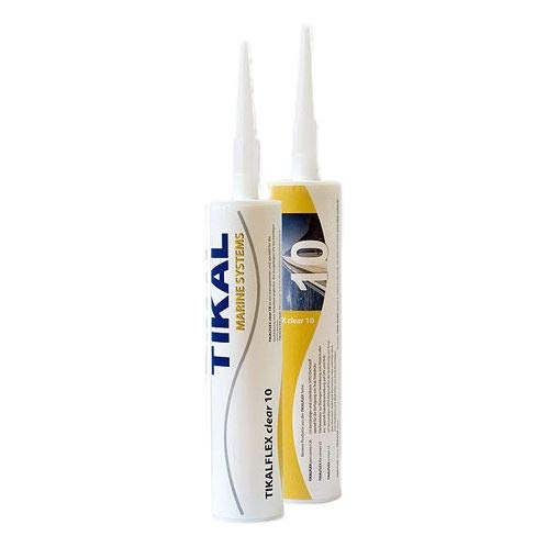 Tikalflex Clear 10 MS-polymeer lijm en afdichtmiddel | Transparant | 290ml | Hecht op polyester, epoxide, metaal, kunststof, beton, steen