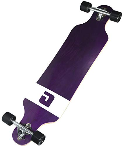 """Atom Longboards Atom Drop Through Longboard - 40"""", Purple Veneer"""
