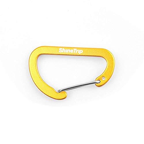 ZMHVOL Mosquetón al Aire Libre de aleación de Aluminio Gancho Multifuncional Nº 4 Tipo D Multiuso Hebilla de Metal, de Plata ZDWN (Color : Yellow)