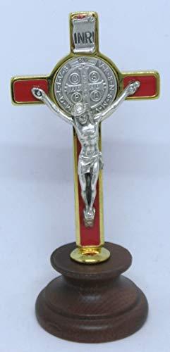 GTBITALY 10.006.21 kruis van San Benedetto nagellak rood goud email op basis van hout