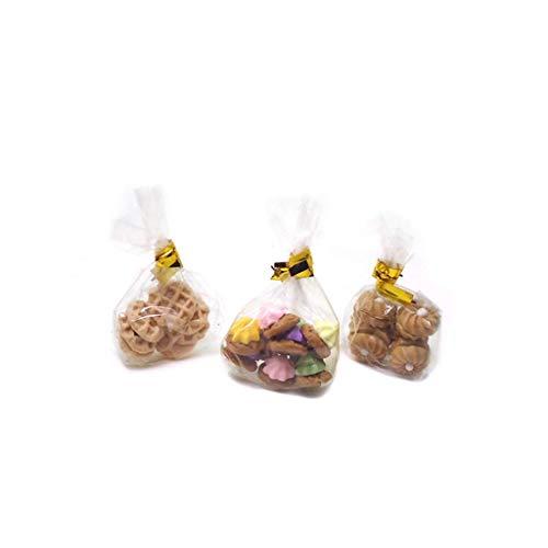 U/K PULABO 1 Satz 1/12 Puppenhaus Miniatur Zubehör Mini Dessert Cookies Kekse Simulation Lebensmittel Modell Für Puppenhaus Dekoration Tragbare und Nützliche langlebig