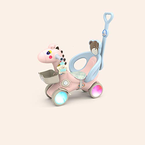 Best Review Of FJH Rocking Horses Children's Scooter Thickened Plastic Luminous Wheels Baby Rocking ...