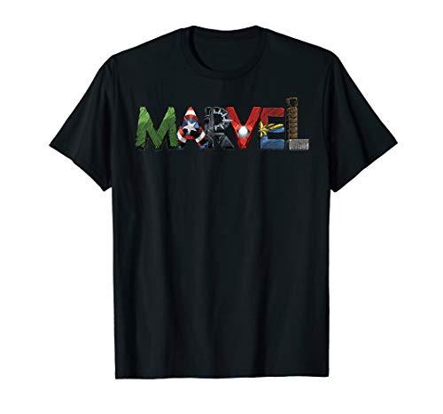 Marvel Avengers Character Text Portrait T-Shirt