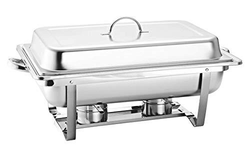 Chafer Buffet Chafer Bufetera Rectangular de Acero Inoxidable de 9.5 L Con medios y Charola completa