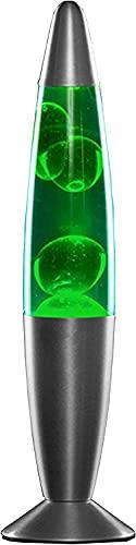 Modezvous – Lámpara de lava cohete verde Magma, 25 W – Verde