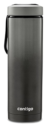 Contigo Vacuum Insulated Stainless Steel Water Bottle with a Quick-Twist Lid, 24 oz., Licorice