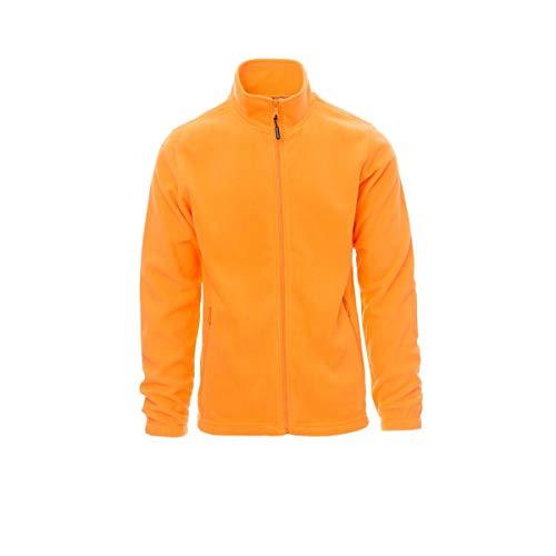 PAYPER Nepal Felpa Pile Uomo Donna 100% Poliestere Chiusura Zip Elastici stringi Polso Tasche Laterali Arancione (XL)