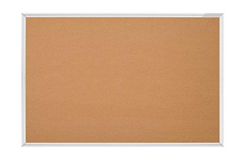 magnetoplan SP-Pinnboard Kork, Aluminiumrahmen, 120 x 90 cm, natur