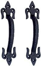 Adonai Hardware Antique Iron Door Pull (Black, 182 x 42 x 34 mm)
