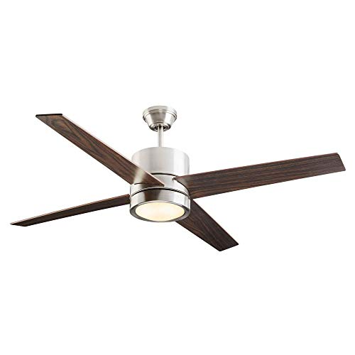 NOMA Ceiling Fan with Light | Reversible Maple or Distressed...