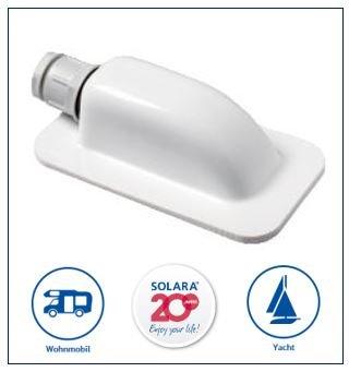 SOLARA® Premium ABS Solar Dachdurchführung DD1 Kabeldurchführung weiß, perfekt auch für SAT-Anlagen