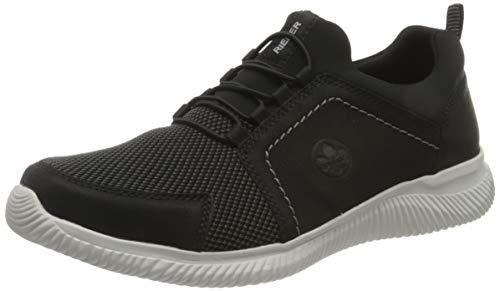 Rieker Herren B7462 Sneaker, schwarz/grau-schwarz/schwarz 00, 45 EU
