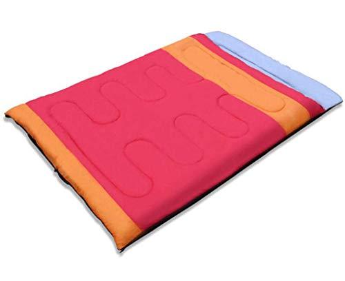 CATRP Double Sac De Couchage Portable De Camping Extérieur Imperméable Et Respirant, Adapté À 4 Saisons (Color : Red)