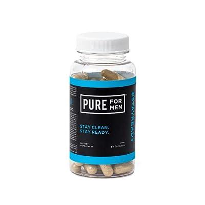 Pure for Men - The Original Vegan Cleanliness Fibre Supplement, 60 Capsules - Proven Proprietary Formula