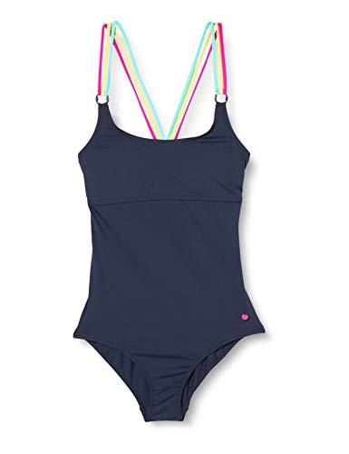 ESPRIT Mädchen Hyde Beach YG Swimsuit Badeanzug, Blau (401), 164