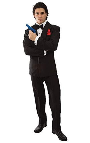 ORION COSTUMES Costume de déguisement avec combinaison noire d'espion standard James Bond 007 pour hommes