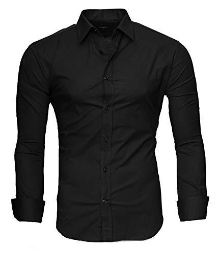 Kayhan Herren Hemd, TwoFace als Uni Schwarz L
