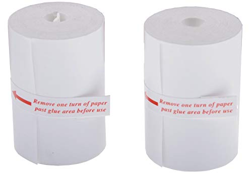 BGS 2196-ROLLE Lot de 2 rouleaux de papier de rechange pour imprimante