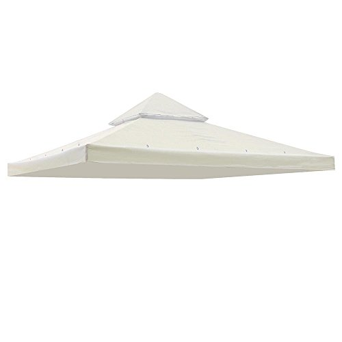 Yescom 117'x117' Canopy Top Replacement Y00397T07 White for Smaller 10'x10' Dual-Tier Gazebo Cover Patio Garden Outdoor