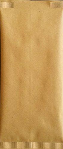 PZ 1000 SACCHETTO IN CARTA PAGLIA 10 X 25 + TOVAGLIOLO 40 X 40 BUSTA PORTA COLTELLO CUCCHIAIO PORTA POSATE PER APERITIVO APERICENA E HAPPY HOUR PER ALIMENTI (1000)