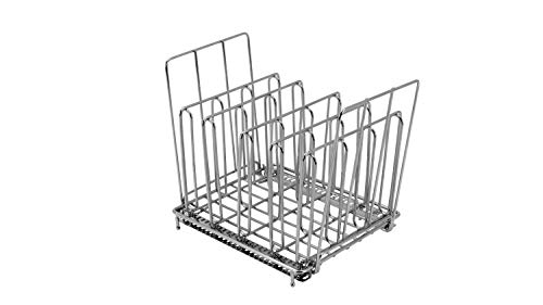 LIPAVI Sous Vide Rack-Model L10- Marine Quality 316L Stainless Steel-Square 7.8 x 6.4 Inch-Adjustable, Collapsible,Ensures even and Quick warming with Sous Vide Cooking - Fits LIPAVI C10 Container