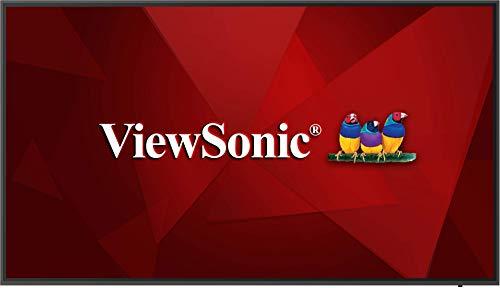 ViewSonic CDE6520 65 Zoll Display 4K (3840 x 2160) für körpereigene und Digitale Präsentationen mit eingebautem Android und ViewBoard® Cast