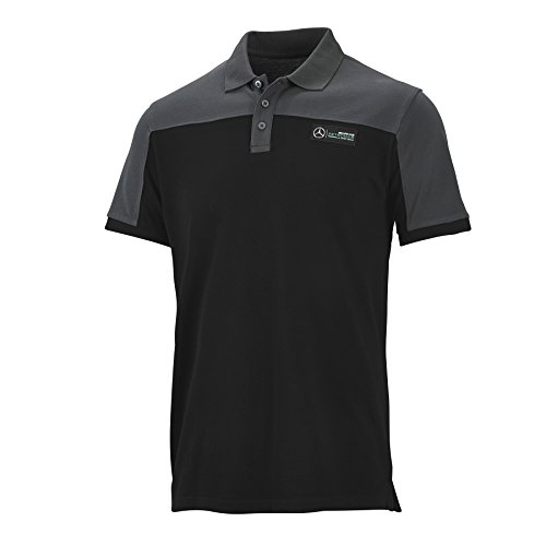 Mercedes Poloshirts Race Polo Black / Shadow, S