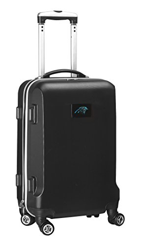 Denco NFL Carolina Panthers Carry-On Hardcase Luggage Spinner, Black