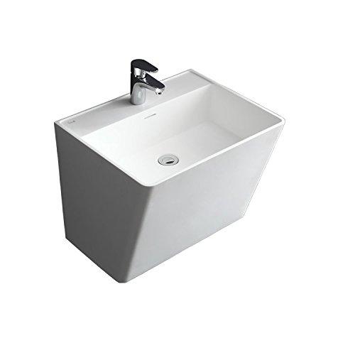 STONEART Waschtisch LZ207 weiß/56x46cm/glänzend