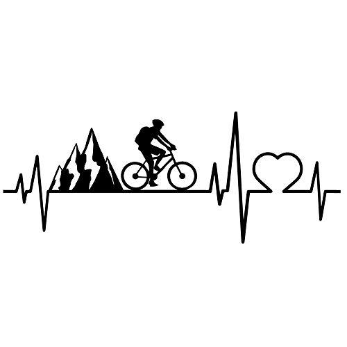 Vinilo Pegatina Ciclista. Decorativo para todo tipo de superficies. Bicicleta montaña, carretera, mountain bike. Diferentes medidas (60X30)