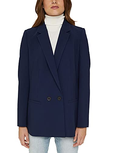 Esprit 081ee1g337 Blazer, Azul Marino, 44 para Mujer