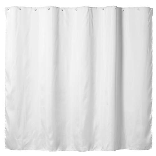 Hookless Fabric Snap-In Shower Curtain Liner, 70x54 In, White
