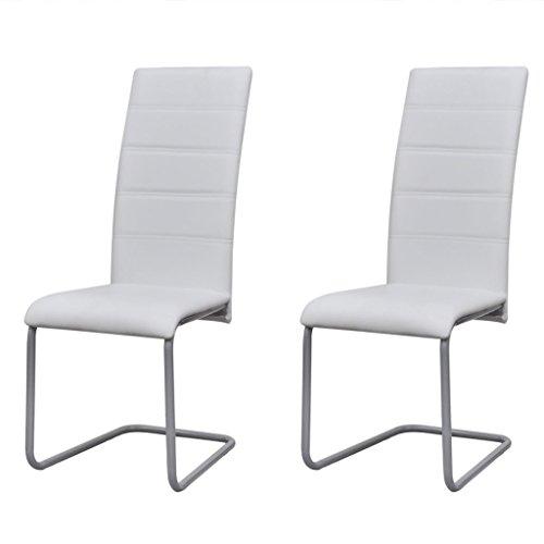 Preisvergleich Produktbild Festnight Esszimmerstuhl Freischwinger Schwingstuhl Küchenstuhl 2er Set Stuhl Set