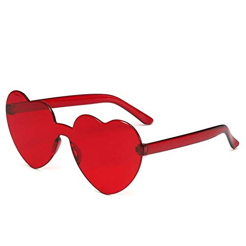 Yerflew Love Heart Shaped Sunglasses Women PC Frame Resin Lens Sunglasses UV400 Sunglasses
