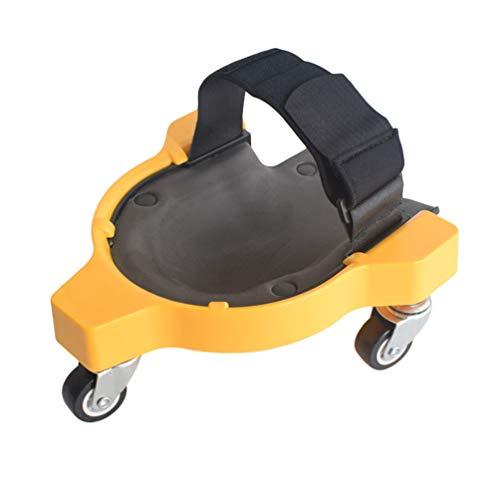 Yujeet Rolling Knee Pad for Work Rodilleras Deslizantes Multifuncionales y Convenientes Almohadilla de Rodillas sin Esfuerzo (Amarillo, 29.5 * 22 * 8.8CM)