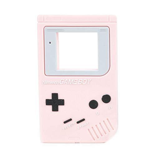 Massaggiagengive Game Boy - Silicone Antibatterico, Senza BPA, Ecologico Biologico, Vegano, Naturale - Aiuta a prevenire il mal di denti e le gengive del bambino, stimola la dentizione - Rosa