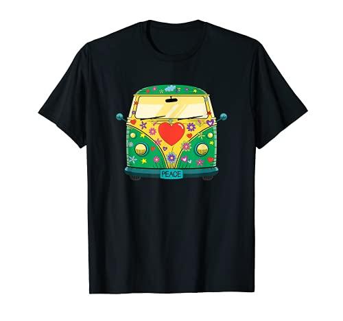 Hippie Hippies Peace Vintage Retro Disfraz Hippy Regalo Camiseta
