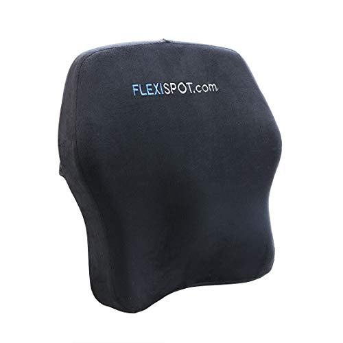 FLEXISPOT 100% Pure Memory Foam Comfort Lumbar Support Back Cushion for Office Chair and Car to Relieve Lower Back Pain