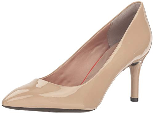 Rockport Womens Total Motion 75mm Pointy Pump, 10 M, Warm Taupe