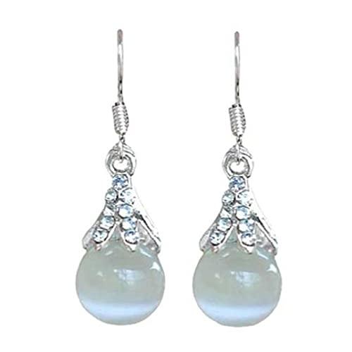 EATAN Pendientes de gota de agua en forma de piedras preciosas pendientes de joyería para mujer boda fiesta regalos adornos pendientes gota