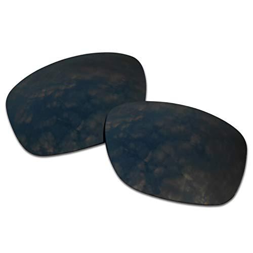 SOODASE Para Oakley Ten X Gafas de sol Negro Lentes de repuesto polarizadas