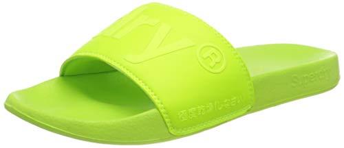 Superdry Herren City Pool Slide Slipper, Neon Green, Small EU