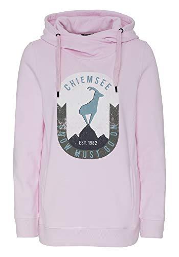 Chiemsee Sweatshirt mit integrierter Kängurutsche - GOTS-Zertifiziert L Pink Lady