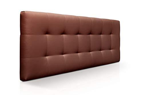 SUENOSZZZ-ESPECIALISTAS DEL DESCANSO Cabecero de Cama Canadá tapizado en Polipiel para Camas de 135 (145 x 57 cm) Polipiel Chocolate