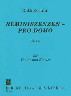 Reminiszenzen Pro Domo. Violine, Klavier