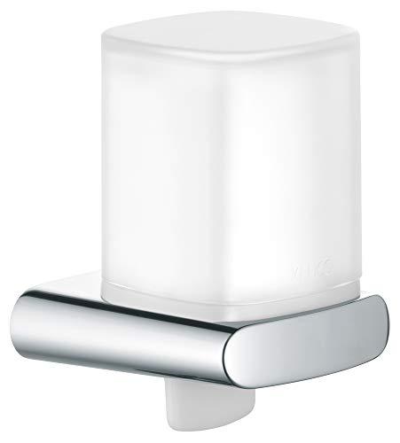 KEUCO Lotion-Spender Metall verchromt und Kristall-Glas, Inhalt nachfüllbar ca. 180ml, Seifenspender für Bad und Gäste-WC, Wandmontage, Elegance