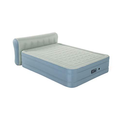 Bestway Fortech Luftbett Tropaia 229x152x79 cm, selbstaufblasendes Doppelbett mit App-gesteuerter Elektropumpe, aufblasbare Matratze mit Rückenlehne