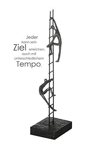 Casablanca 79127 Skulptur - Dekofigur Balance of Power - Figuren auf Leiter - Polyresin 43 x 13 cm