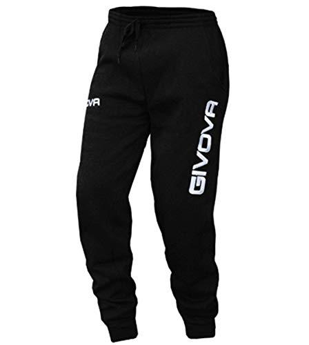 Giosal Pantalone Tuta Uomo Givova New Panta Moon Free Time Vari Colori Sport Relax Nero-XXL